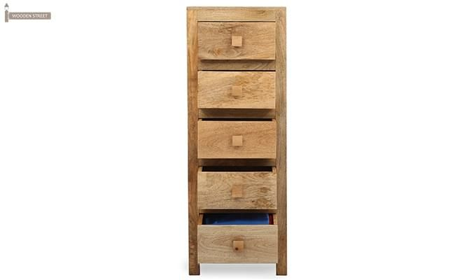 Drake Chest Of Five Drawers (Teak Finish)-4