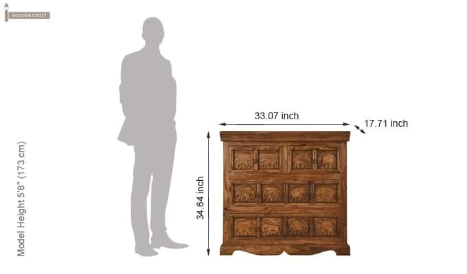 Ellsworth Cabinet Of Drawers (Teak Finish)-3