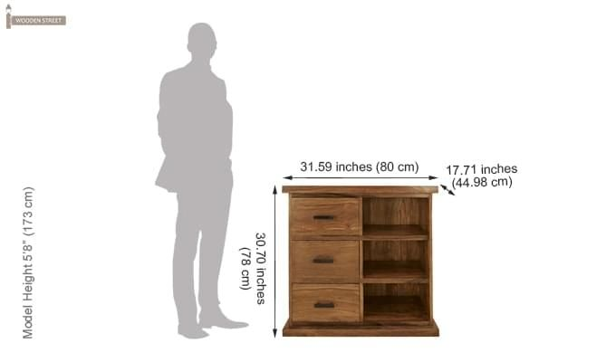 Emily Cabinet Of Drawers (Teak Finish)-3