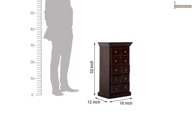 Finola Chest Of Drawers (Mahogany Finish)-9