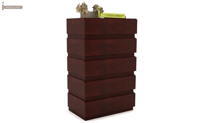 Florian Chest Of Drawer (Mahogany Finish)-2