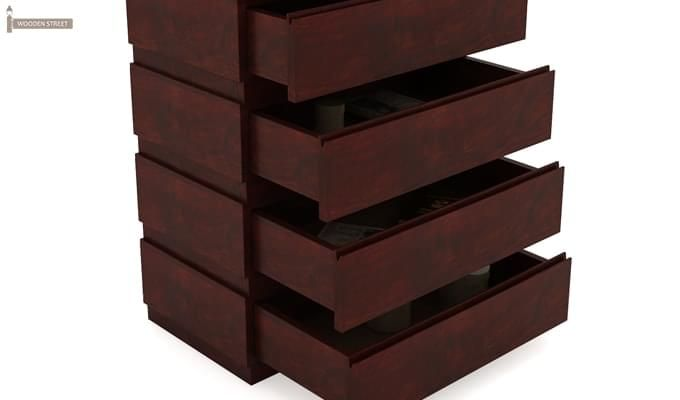 Florian Chest Of Drawer (Mahogany Finish)-5