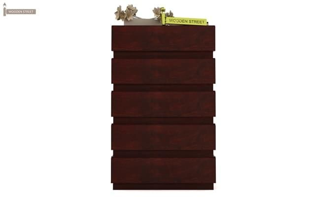 Florian Chest Of Drawer (Mahogany Finish)-6