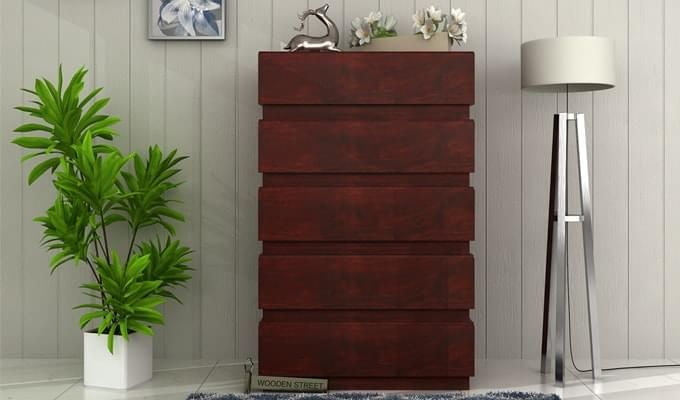 Florian Chest Of Drawer (Mahogany Finish)-1