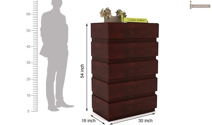 Florian Chest Of Drawer (Mahogany Finish)-7