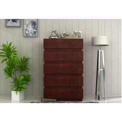 Florian Chest Of Drawer (Mahogany Finish)