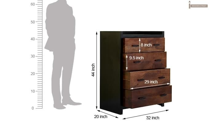 Andrew Chest Of Drawer (Teak Finish)-7