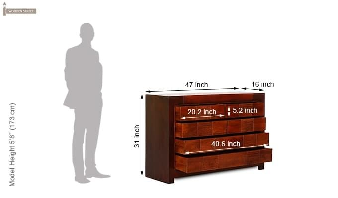 Kelly Cabinet Of Drawers (Mahogany Finish)-9