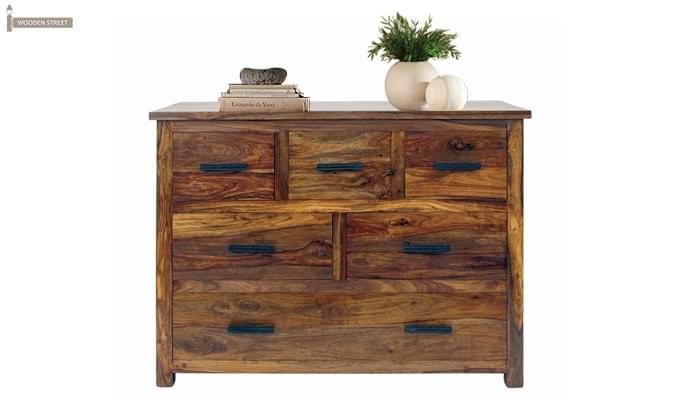 Linon Chest Of Six Drawers (Teak Finish)-1