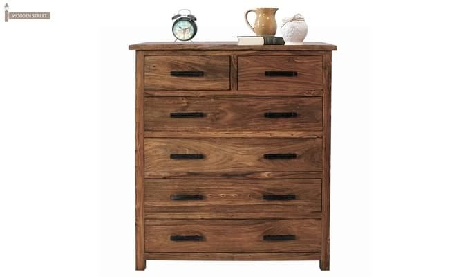 Naples Drawers Chest (Teak Finish)-1