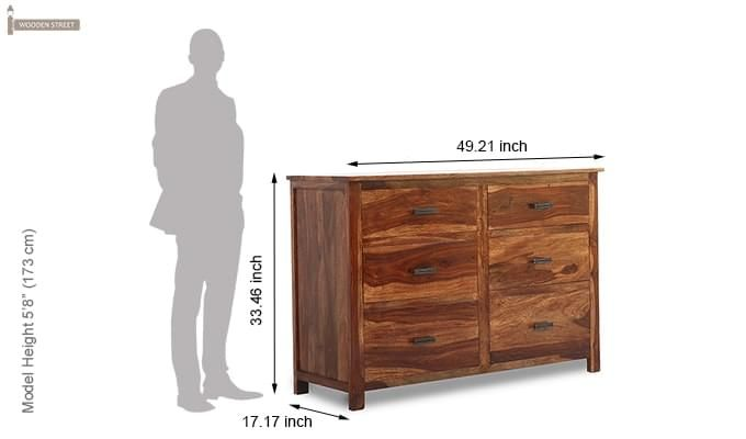 Olympus Chest Of Drawer (Teak Finish)-7