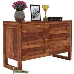 Rahian Chest Of Drawer (Teak Finish)