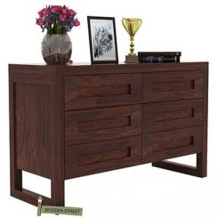 Rahian Chest Of Drawer (Walnut Finish)