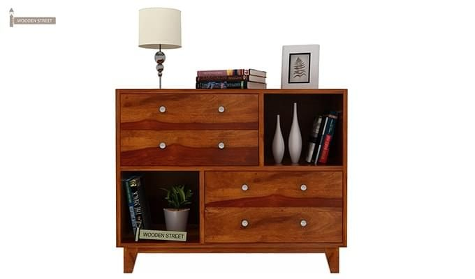 Rochel Chest Of Drawer (Honey Finish)-2