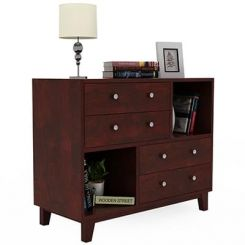 Rochel Chest Of Drawer (Mahogany Finish)
