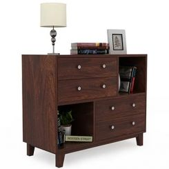 Rochel Chest Of Drawer (Walnut Finish)