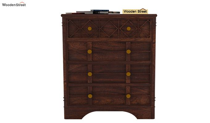 Swirl Chest Of Drawers (Walnut Finish)-3