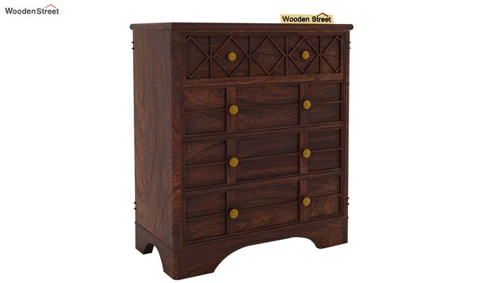 Swirl Chest Of Drawers (Walnut Finish)-4