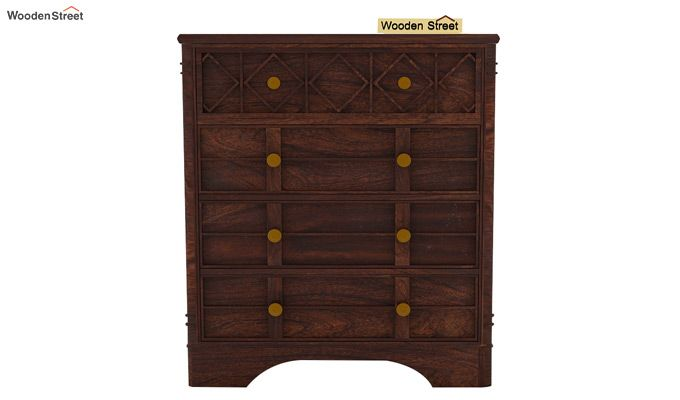 Swirl Chest Of Drawers (Walnut Finish)-5