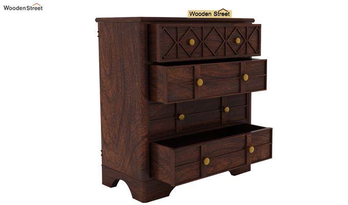 Swirl Chest Of Drawers (Walnut Finish)-6