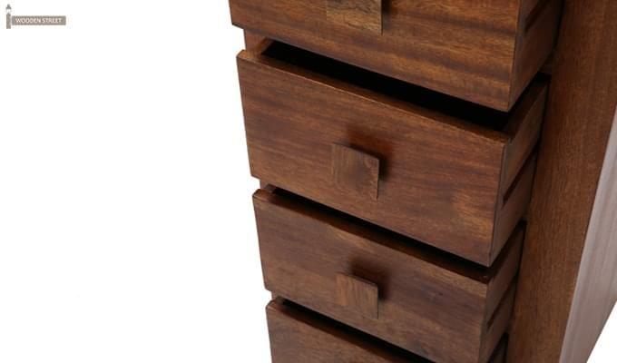 Turbo Cabinet Of Drawers (Teak Finish)-8
