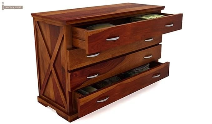 Warner Chest Of Drawer (Honey Finish)-6