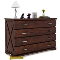 Warner Chest Of Drawer (Walnut Finish)
