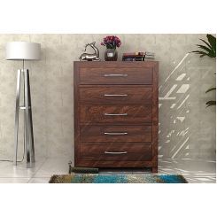 Weston Chest Of Drawers (Walnut Finish)