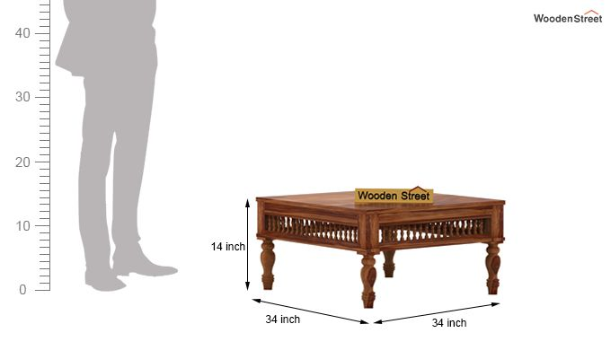 Alanis Coffee Table (Teak Finish)-4