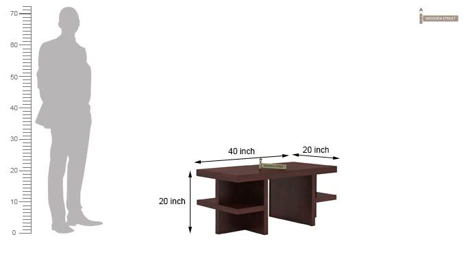 Amanda Centre Table (Mahogany Finish)-5