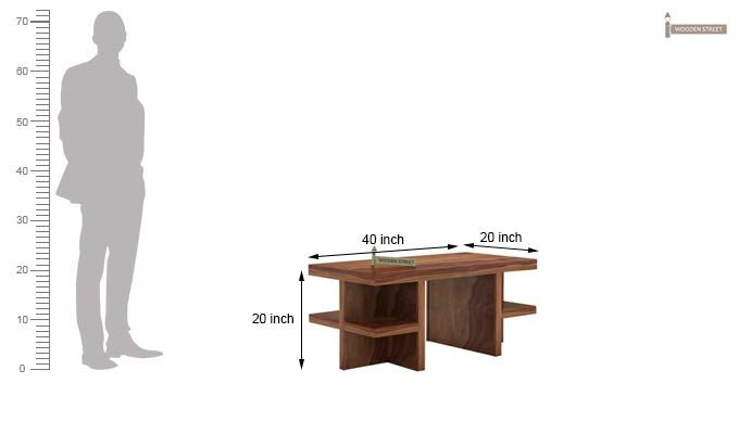 Amanda Centre Table (Teak Finish)-5