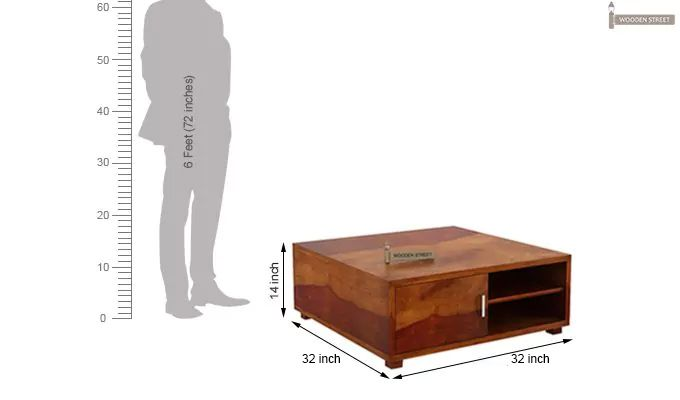 Andy Coffee Table (Honey Finish)-8