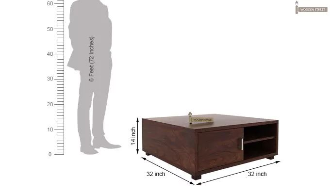 Andy Coffee Table (Walnut Finish)-8