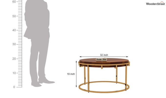 Aristo Coffee Table (Honey Finish)-5
