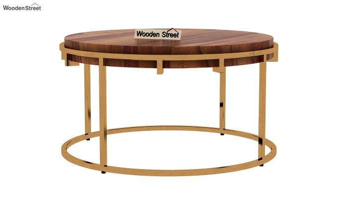 Aristo Coffee Table (Teak Finish)-4