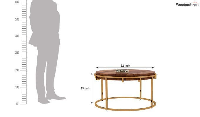 Aristo Coffee Table (Teak Finish)-5