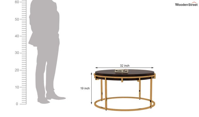 Aristo Coffee Table (Walnut Finish)-5