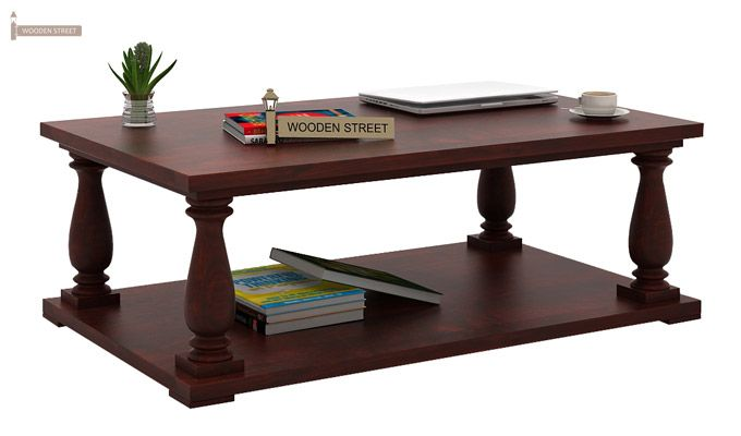 Barnett Center Table (Mahogany Finish)-1