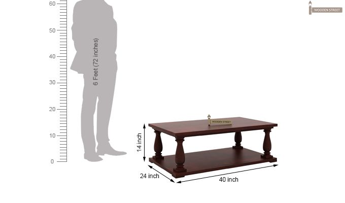 Barnett Center Table (Mahogany Finish)-5