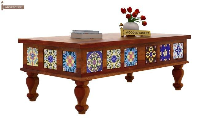 Boho Coffee Table (Honey Finish)-2