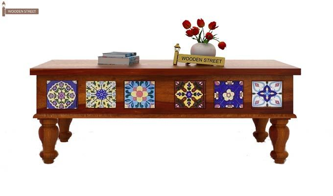 Boho Coffee Table (Honey Finish)-3