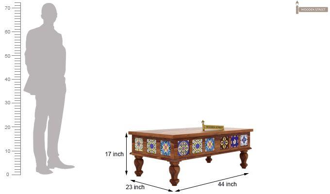 Boho Coffee Table (Teak Finish)-4