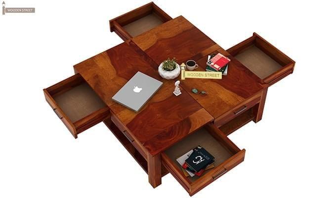 Borstein Coffee Table (Honey Finish)-7