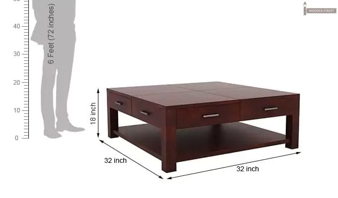 Borstein Coffee Table (Mahogany Finish)-8