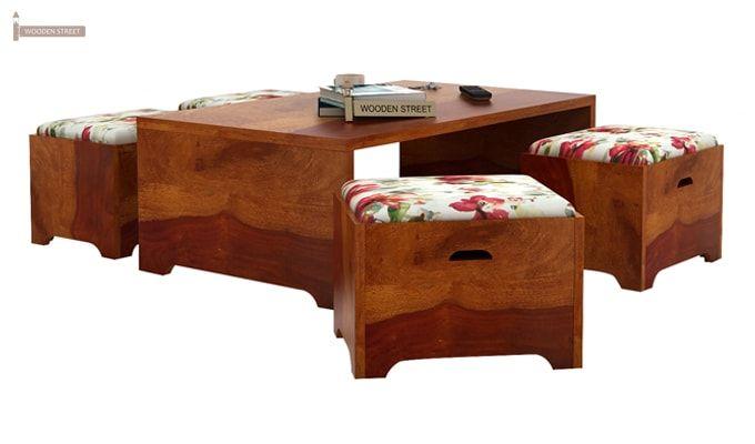 Breton 4 Seater Tea Table (Honey Finish)-2