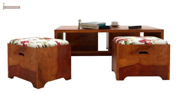Breton 4 Seater Tea Table (Honey Finish)-3