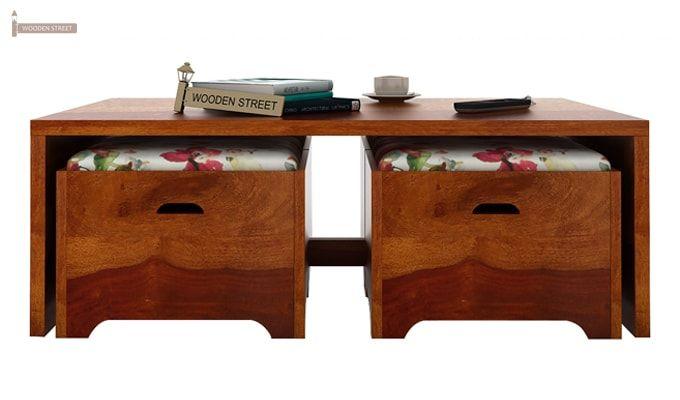 Breton 4 Seater Tea Table (Honey Finish)-5