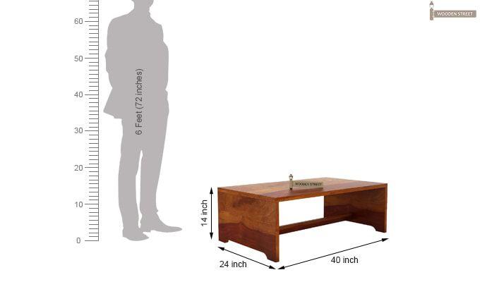 Breton 4 Seater Tea Table (Honey Finish)-9