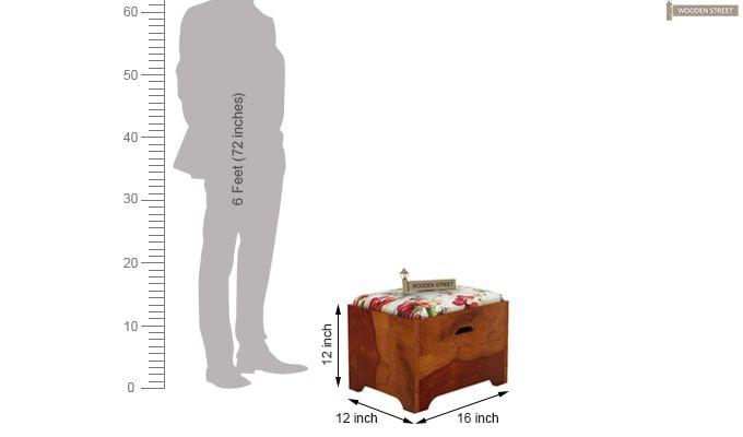 Breton 4 Seater Tea Table (Honey Finish)-10