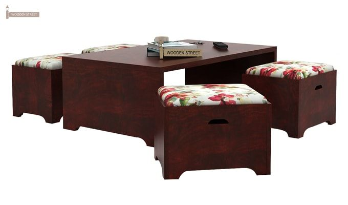 Breton 4 Seater Tea Table (Mahogany Finish)-1